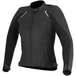 Alpinestars Womens Stella Devon Armored Leather Jacket Black