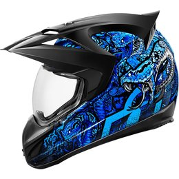 Icon Variant Cottonmouth Dual Sport Helmet With Anti-Lift Visor Blue