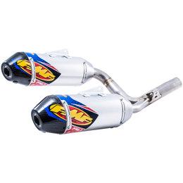 Factory 4.1 RCT Dual Slip-On Mufflers Honda 250 SS Aluminum Carbon Fiber 041529 Unpainted