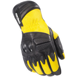 Yellow Cortech Gx Air 3 Textile Leather Gloves