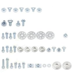 Bolt MC Full Plastics Fastener Kit Steel For Honda CRF450R 2005-2008 Unpainted