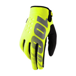 100% Youth Boys Brisker MX Motocross Offroad Riding Gloves Yellow