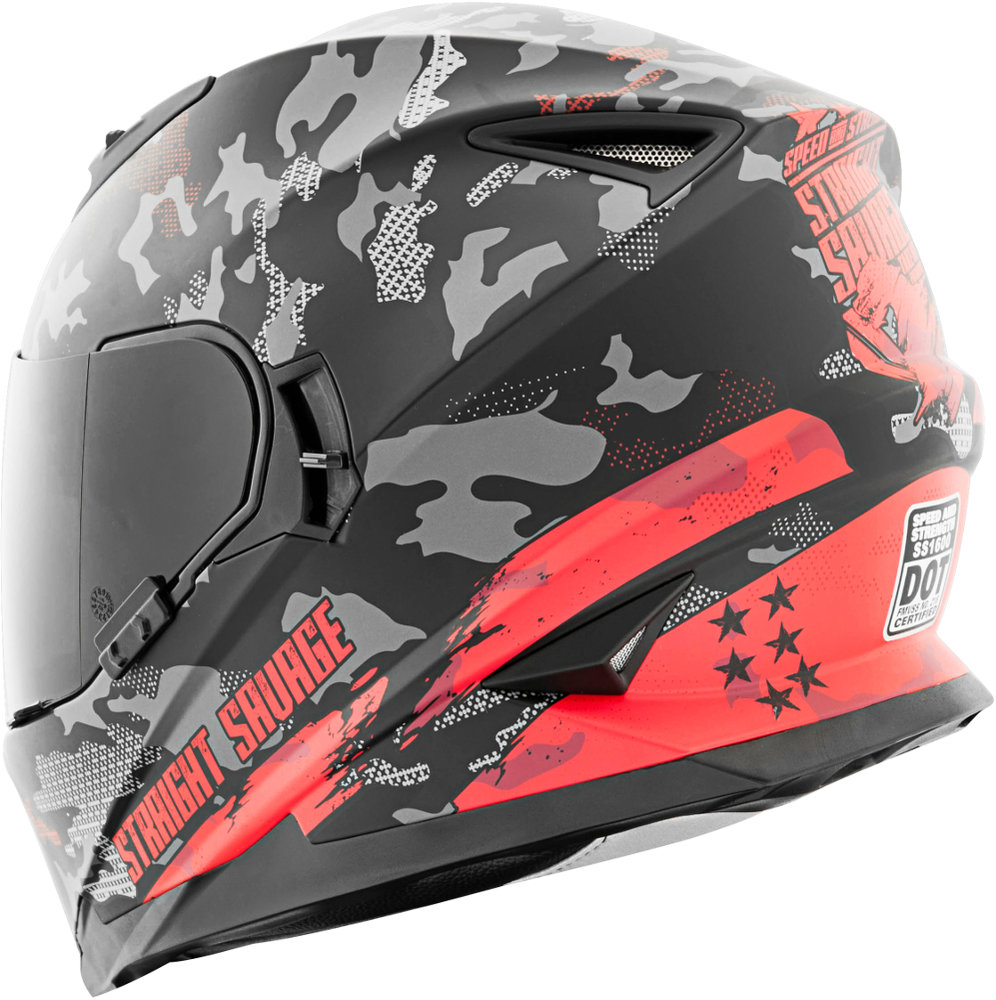 ddc2c0c5 ... Speed & Strength Straight Savage SS1600 Full Face Helmet Red ...