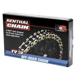 Renthal R3-3 520 Off-Road SRS O-Ring Chain 104-Link C408 Gold