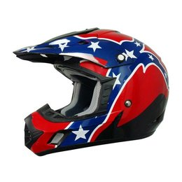 Black Afx Mens Fx-17 Fx17 Rebel Helmet