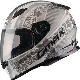 GMAX Womens FF49 Elegance Full Face Helmet White, Silver