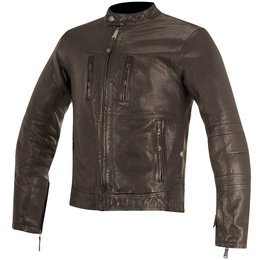 Alpinestars Mens Oscar Collection Brass Armored Leather Jacket Brown