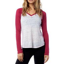 Fox Racing Womens Whirlwind Long Sleeve V-Neck Raglan T-Shirt Grey