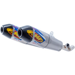 FMF Factory 4.1 RCT Dual Slip-On Mufflers Honda 450 Titanium Carbon Fiber 041549 Unpainted