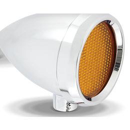 Chrome, Amber Led's Arlen Ness Speeding Bullet Marker Light Smooth Chrome W Amber Led Universal