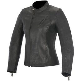 Alpinestars Womens Oscar Collection Shelley Armored Leather Jacket Black