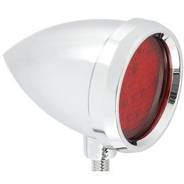 Chrome, Red Led's Arlen Ness Speeding Bullet Marker Light Smooth Chrome W Red Led Universal