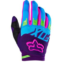 Fox Racing Mens Special Edition Dirtpaw Race Vicious Mesh Gloves Blue