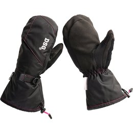Divas Womens DSG Craze Insulated Snowmobile Mittens Black
