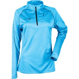 Divas Womens Tech Long Sleeve Mid Layer Shirt Blue
