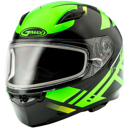 GMAX FF49 FF-49 Berg Snowmobile Helmet With Dual Pane Shield Green