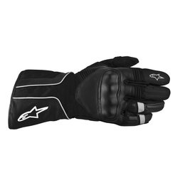 Black Alpinestars Overland Drystar Waterproof Textile Gloves
