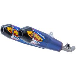 FMF Factory 4.1 RCT Dual Slip-On Mufflers Honda CRF450 Blue Carbon Fiber 041550 Unpainted