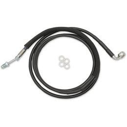 Drag Specialties Hydraulic Clutch Line +2 Inch For Harley Black 0661-0024 Black