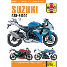 Haynes Service And Repair Manual For Suzuki 09-16 GSX-R1000 6345 Unpainted