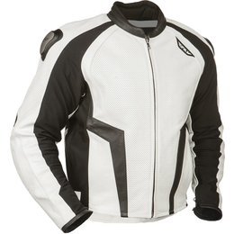 Fly Racing Mens Apex Leather Jacket White