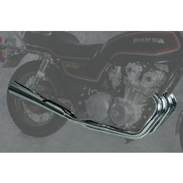 MAC 4:2 Full Exhaust System W/ Megaphone Mufflers Chr For Hon CB750 Custom 80-82