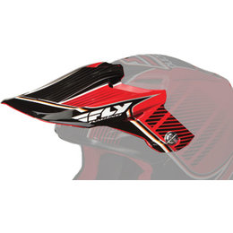 Red, Black Fly Racing Repl Visor F F2 Carbon Trey Canard Signature Helmet Red Black