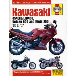 Haynes Manual For Kawasaki 85-07 454LTD LTD450 Vulcan 500 Ninja 250 M2053 Unpainted