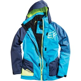 Fox Racing Mens Race Hooded Insulated Jacket Blue