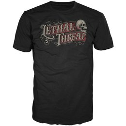 Lethal Threat Mens Calligraphy T-Shirt 2014 Black