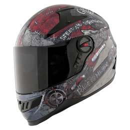 Black, Red Speed & Strength Ss1300 Rage With The Machine Helmet Black Red