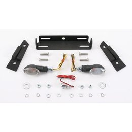 Black Mount/clear Lens Targa Tail Kit With Signals Black For Kawasaki Zx-10r 04-05
