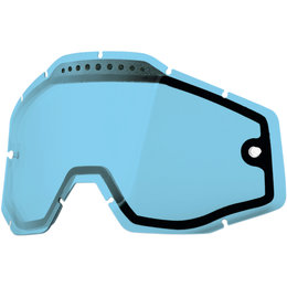 100% Dual Vented Replacement MX Motocross Offroad Goggle Lens Blue