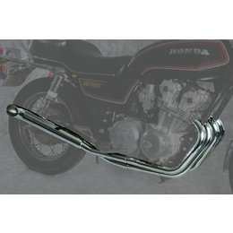 MAC 4:2 Full Exhaust System W/ Turn Out Mufflers Chr For Hon CB650/Nighthawk 650