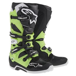 Black, Green Alpinestars Mens Tech 7 Boots 2014 Us 5 Black Green