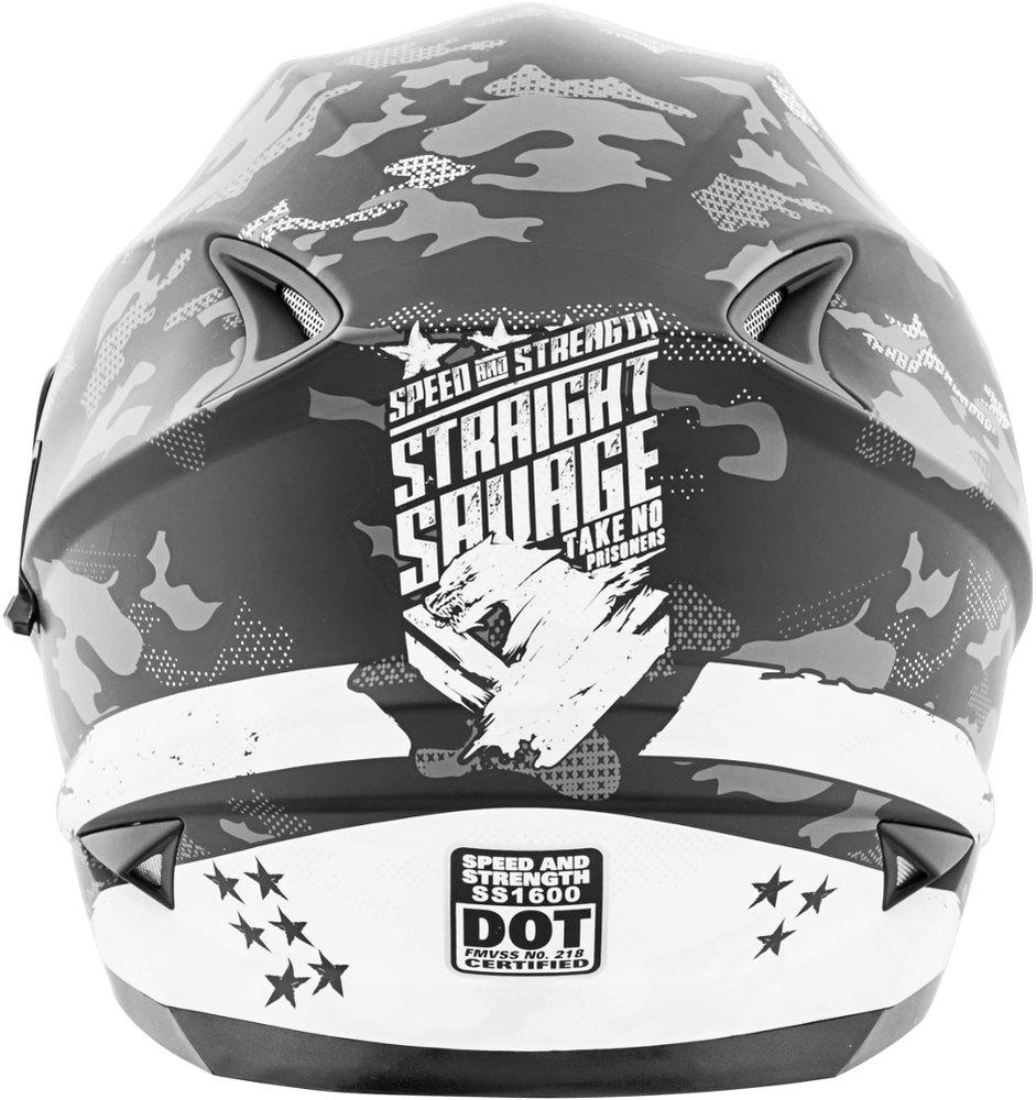 199 95 Speed Amp Strength Straight Savage Ss1600 Helmet