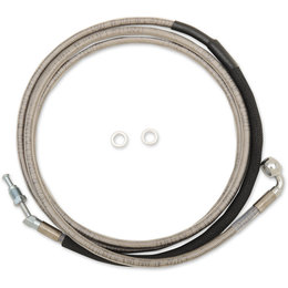 Drag Specialties Hydraulic Clutch Line +12 Inch For Harley 0661-0033 Unpainted