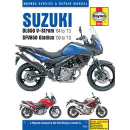 Haynes Repair Manual For 04-13 Suzuki DL650 V-Strom SFV650 Gladius M5643 Unpainted