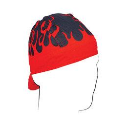 ZAN Flydanna Cotton Bandanna Headwrap Flames Red Red