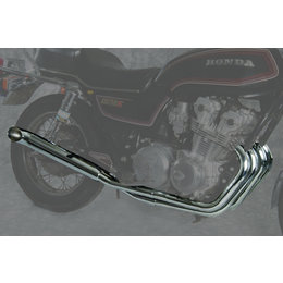 MAC 4:2 Full Exhaust System W/ Turn Out Mufflers Chr For Hon CB750 Custom 80-82