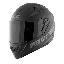 Matte Black Speed & Strength Ss1300 Under The Radar 2.0 Helmet
