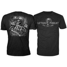 Lethal Threat Mens Skull Crew T-Shirt 2014 Black