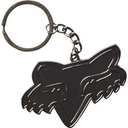 Fox Racing Fox Head Metal Keyring Unpainted