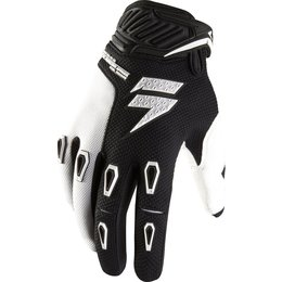 Black, White Shift Racing Mens Faction Gloves 2013 Black White