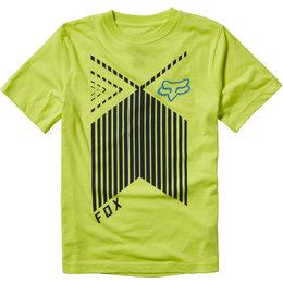 Fox Racing Youth Rainwater Short Sleeve Cotton Blend T-Shirt Yellow
