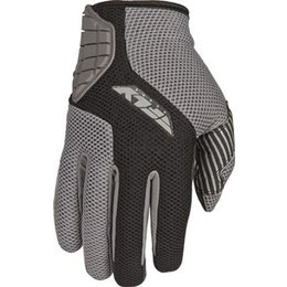 Black, Silver Fly Racing Coolpro Mesh Gloves Black Silver