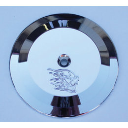 Joker Machine Insert For Round Air Cleaner Hot Head Chrome For HD Twin Cam 99-12