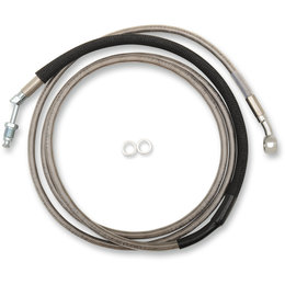 Drag Specialties Hydraulic Clutch Line +8 Inch For Harley 0661-0043 Unpainted