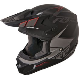 Matte Grey, Black Fly Racing Kinetic Impulse Helmet Matte Grey Black