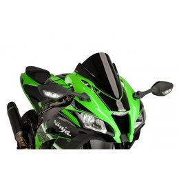 Puig Racing Windscreen Double Height 3mm Black For Kawasaki Ninja ZX-10R 2016 Black